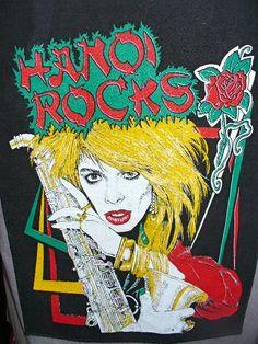 Hanoi Rocks 80s Vest Huge Back Patch Glam Metal Michael Monroe Razzle RIP