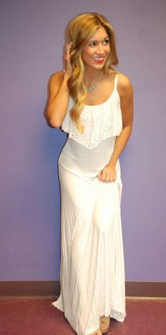 Impressive glam maxi white fashion... to see more click on picture
