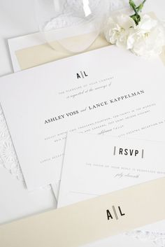 Vintage champagne wedding invites | Shine Wedding Invitations  Click through for ordering details and a free sample set!