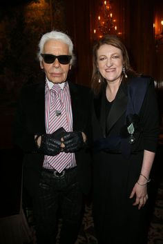 Karl Lagerfeld with Glenda Bailey