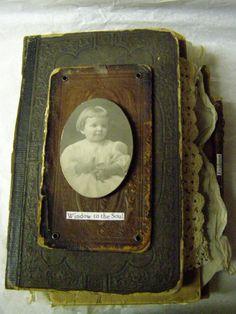 Altered book - art journal inspiration. Nellie