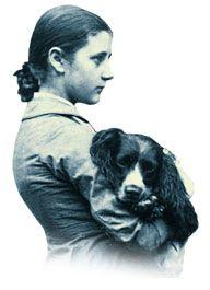 """Writer and illustrator """"Beatrix Potter"""" holds her  Spaniel. #dogs #pets #SpringerSpaniels Facebook.com/sodoggonefunny"""