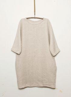 Maggie Dress - Irish Linen in Flax Handmade in Ireland www. Slow Fashion, Ireland, Irish, Bell Sleeve Top, Fashion Outfits, Handmade, Clothes, Tops, Dresses
