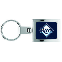 Tampa Bay Devil Rays Domed Metal Keychain - Sunset Key Chains