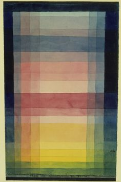 paul klee; Surface of architecture. 1923
