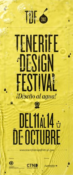 Tenerife Design Festival poster by Lo Siento