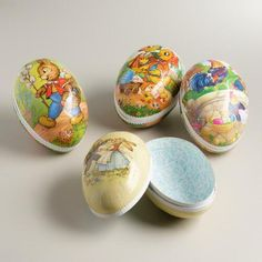 One of my favorite discoveries at WorldMarket.com: Extra-Large German Easter Egg Containers,  Set of 4