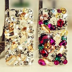 I found 'New Chic Glam Luxury Elegant Big Various Shape Colorful Rhinestones iPhone case Cover' on Wish, check it out!