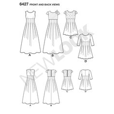 Multi-Colour New Look 6388 Size A Girls/' Party Dresses Sewing Pattern