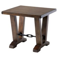 Astor End Table in Warm Cherry
