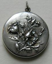 Art Nouveau Poppy Sterling Locket