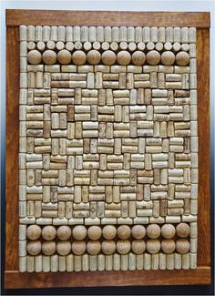 Mosaic (Wine Corks):  (Wine Corks, Tequila Corks, Wooden Frame - designed and created by Karen J Lauseng