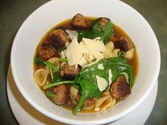 A Busy Mom's Slow Cooker Adventures: Italian Sausage Meatball Soup Slow Cooker Sausage Recipes, Crockpot Italian Sausage, Italian Sausage Meatballs, Italian Meatball Soup, Meatball Stew, Slow Cooker Soup, Crockpot Recipes, Soup Recipes, Crock Pot Soup
