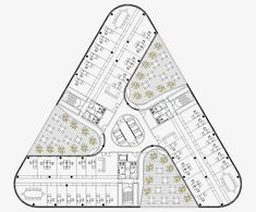 Justine Huang's media statistics and analytics Architecture Concept Drawings, Facade Architecture, School Architecture, Building Design Plan, Plan Design, Hospital Plans, Hotel Floor Plan, Architectural Floor Plans, Tower Design
