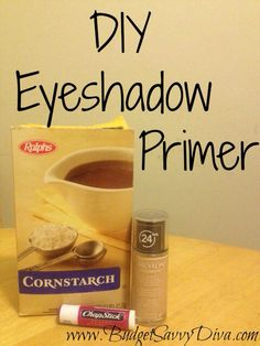 DIY Eyeshadow Primer So easy and inexpensive!