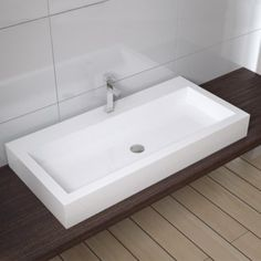 Rectangular Counter Top Stone Basin 1000mm wide and 450d £111.99 with the bathempire store possibility for 1st floor bathroom - Sara?  Would need a stand, old table or piece of wood as is topmounted.