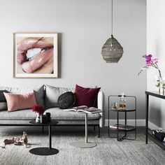 nathan and jac grey and maroon living room with blush cushions and black furniture (scheduled via http://www.tailwindapp.com?utm_source=pinterest&utm_medium=twpin&utm_content=post160728775&utm_campaign=scheduler_attribution)
