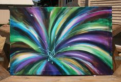 Abstract Painting Flower Painting or Firework Painting Floral