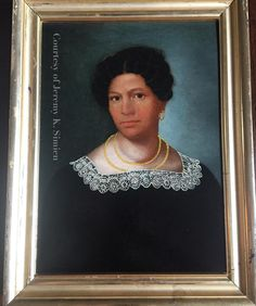 """Just got my painting back from being professionally cleaned/conserved! This painting was in rough shape and is now back to a stable and beautiful form! This portrait was found in Veracruz, Mexico. This painting is circa 1820s and is of a """"Mulata De Veracruz"""". This painting likely have Louisiana origin. Many of the Free People of color left Louisiana for Mexico & France in the 1830s,1850s because of further restrictions placed upon them."""