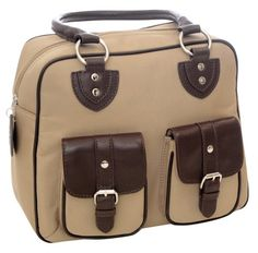 Jille Designs Nougat Nylon and Leather Trim Everywear Gadget Bag 340962 Brown >>> More info could be found at the image url. (Note:Amazon affiliate link)
