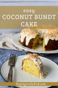This simple coconut cake recipe is loaded with coconut flavor and a moist, tender crumb. This easy to make bundt cake is perfect for weeknight company. Easy Summer Desserts, Summer Dessert Recipes, Dessert Cake Recipes, Cupcake Recipes, Healthy Cake Recipes, Delicious Cake Recipes, Best Cake Recipes, Yummy Cakes, Healthy Food