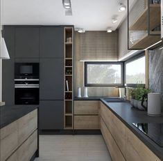 💡 87 designs of small kitchen spaces that inspire small houses 83 Modern Kitchen Interiors, Luxury Kitchen Design, Kitchen Room Design, Kitchen Cabinet Design, Luxury Kitchens, Interior Design Kitchen, Home Kitchens, Kitchen Modern, Kitchen Cabinets