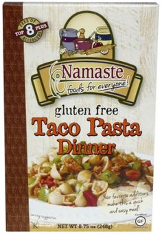 Taco Pasta Dinner  www.teelieturner.com This product is free of corn, soy, dairy, potato, casein, tree nuts and peanuts. All Namaste products are certified gluten/ wheat free, Kosher certified, Non-GMO, all natural, no preservatives. #CincodeMayo