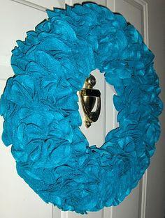 felt flower wreath.