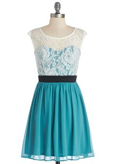 Shortcake Story Dress in Teal. Once upon a time, there was a gal with a passion for all things sweet.  #modcloth