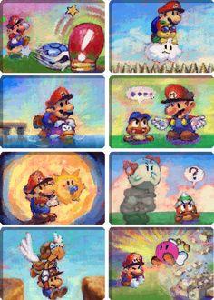 Nintendo 64 - Paper Mario - Ally Portraits - The Spriters Resource Memes Mario, Mario Funny, Super Mario Art, Super Mario World, Paper Mario 64, Mario Tattoo, Super Mario Brothers, Video Game Characters, Video Game Art