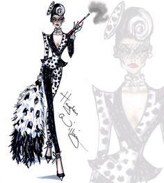 Cruella De Vil (Fashion by HaydenWilliamsIllustrations @Facebook) #101Dalmatians