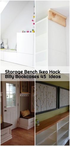 Storage Bench Ikea Hack Billy Bookcases 45  Ideas , Storage Bench Ikea Hack Billy Bookcases 45 Ideas #storage... ,  #Bench #Billy #Bookcases #Hack #Ideas #Ikea #Storage Ikea Hack Billy, Ikea Billy Bookcase Hack, Billy Bookcases, Ikea Hacks, Ikea Hack Storage, Squeaky Floors, Wood Laminate, Wood Veneer, Bookshelves