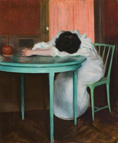 whateverisrealised: Tired, ca 1895-1900, Ramon Casas. Spanish (1866 - 1932)