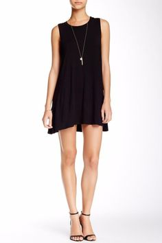 Socialite Tank Dress Size Medium Black $42 FTC #3715