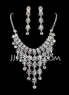 Jewelry - $28.99 - Jewelry (Gorgeous Alloy With Czech Rhinestones Wedding Bridal Jewelry 011005476) http://jjshouse.com/Jewelry-Gorgeous-Alloy-With-Czech-Rhinestones-Wedding-Bridal-Jewelry-011005476-g5476