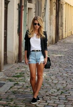 20 Style Tips On How To Wear Denim Cutoff Shorts Without Looking Sloppy waysify