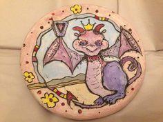 A Vivid, Violet Dragon for Violet N;  SOLD