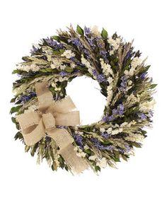 Loving this 18'' Spring Blooms Wreath on #zulily! #zulilyfinds