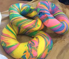 The icing on the cake was definitely a trip to The Bagel Store. This was a special trip for two reasons: A) I could start eating my lox right away on one of their fabulous bagels and B) The Bagel Store is home of the (now) world famous rainbow bagel. I like to think that Vicki discovered this now sacred rainbow bagel – because when we went there it wasn't world famous just yet, rather it became an internet sensation just a few short weeks later.