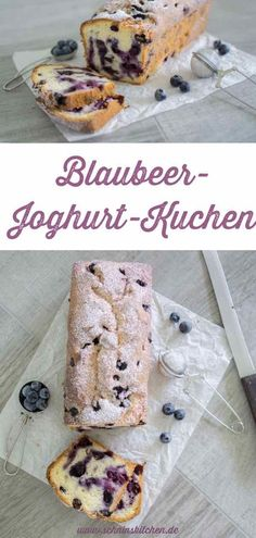 Juicy blueberry yoghurt cake - a great recipe- Saftiger Blaubeer-Joghurt-Kuchen – ein super Rezept Blueberry yogurt cake – juicy, fluffy and simply delicious. With fresh blueberries and yoghurt – a very simple, uncomplicated recipe. Healthy Dessert Recipes, Cupcake Recipes, Vegetarian Recipes, Cakes Originales, Blueberry Yogurt Cake, Pastry Recipes, Food Cakes, Yummy Cakes, Great Recipes