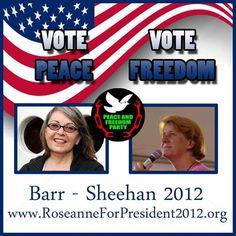 Vote Peace!  Vote Freedom!