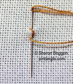 Zig Zag Coral stitch step by step tutorial