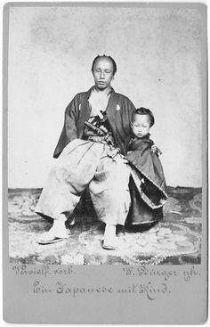 Samurai with child.