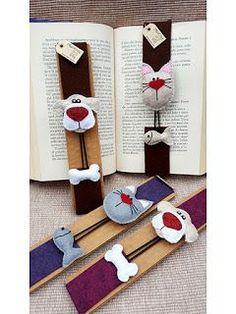 Marcador de Livros: Marcadores lindos que andam por aí Bookmarks For Books, Diy Bookmarks, Sewing Toys, Sewing Crafts, Sewing Projects, Diy Crafts For Adults, Diy And Crafts, Unicorn Diy, Felt Bookmark
