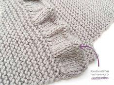 Cómo hacer un vestido de punto y tela combinado de bebé DIY - Tutorial y Patrón Diy Crafts Knitting, Diy Crafts Crochet, Baby Boy Sweater, Knit Baby Sweaters, Baby Knitting Patterns, Crochet Baby Hats, Knit Crochet, Knitted Blankets, Knitted Hats