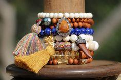 Tribal Tassel Bracelet w Vintage African by HappyGoLuckyJewels, $129.00
