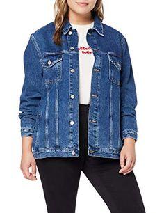 Femme Ajusté Veste en jean stretch bleu moyen Jean Vestes Taille 8 10 12 14 16
