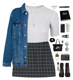 Untitled #487 by amy-lopez-cxxi on Polyvore featuring Topshop, Pull&Bear, Jeffrey Campbell, NIKE, ChloBo, SunaharA, Forever 21, BaubleBar, NARS Cosmetics and H2O+