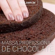 Massa profissional de chocolate Gateau Cake, Pastel Party, Cake Decorating Techniques, Cupcake Cookies, Party Cakes, Cake Recipes, Sweet Treats, Bakery, Food And Drink
