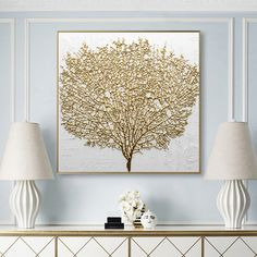 Living Room Pictures, Wall Pictures, Golden Tree, Golden Design, Canvas Wall Art, Canvas Paintings, Nordic Art, Art Mural, Modern Wall Art